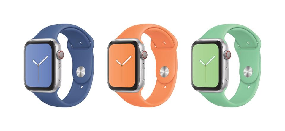 Apple Watch in a series of Sport Bands